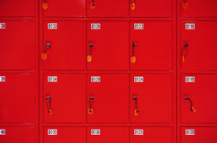 Deposit locker boxes Stock Image