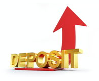 Deposit moving Stock Photo
