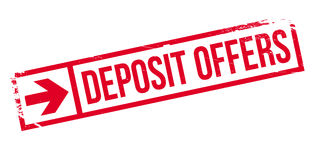 Deposit Offers rubber stamp Stock Images