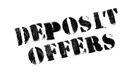 Deposit Offers rubber stamp Royalty Free Stock Photography