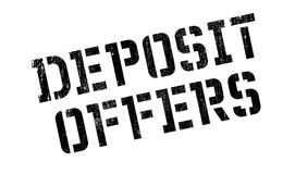 Deposit Offers rubber stamp Royalty Free Stock Photos