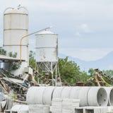 Deposit of prefabricated concrete Stock Image