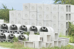 Deposit of prefabricated concrete Royalty Free Stock Photos