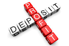 Deposit and Profit concept Stock Photo