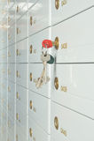 Deposit safe. Bank and keys to the safe royalty free stock images