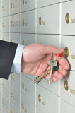 Deposit safe bank Stock Photos