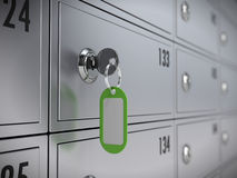 Deposit safe bank and key Royalty Free Stock Photo