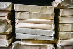 Stack of envelopes on a shelf Royalty Free Stock Photo