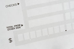 Deposit Slip Stock Photo