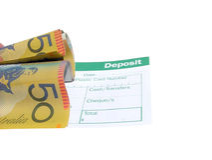 Deposit slip Stock Photos