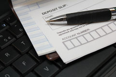 Deposit slip Royalty Free Stock Photos