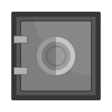 Deposit strongbox flat icon design. Stock Photo