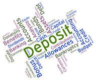 Deposit Word Shows Part Payment And Advance Royalty Free Stock Photo