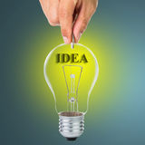 Deposit your idea Royalty Free Stock Photos