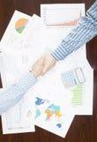 Depositando, taxando e todas as coisas relativas com o mundo da finança Fotos de Stock Royalty Free