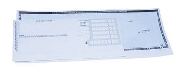Depositing Check Royalty Free Stock Image