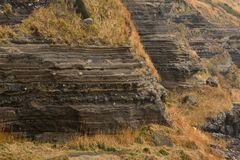 Depositional Structures in Suwolbong Royalty Free Stock Image
