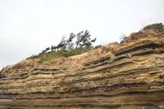Depositional Structures in Suwolbong Stock Photography