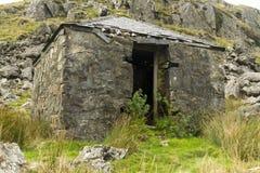 Deposito abbandonato della polvere nera della cava Fotografie Stock Libere da Diritti