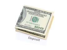 Deposito bancario Fotografia Stock Libera da Diritti