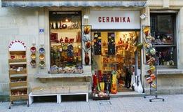 Deposito ceramico locale in Sarlat, Francia Fotografia Stock Libera da Diritti