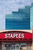 Deposito degli articoli per ufficio di Staples Fotografia Stock Libera da Diritti