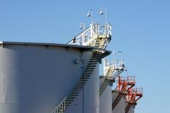 Deposito dei prodotti petroliferi Fotografia Stock