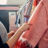 Deposito dei vestiti di progettista Fotografia Stock