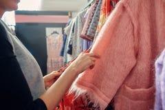 Deposito dei vestiti di progettista Fotografie Stock Libere da Diritti