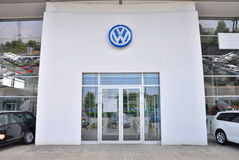 Deposito dell'automobile di Volkswagen Immagine Stock