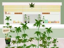 Deposito della cannabis illustrazione di stock