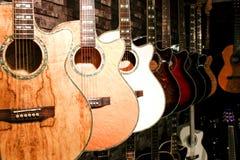 Deposito della chitarra Immagine Stock