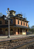 Deposito della ferrovia Fotografia Stock