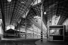 Deposito della linea tranviaria Fotografie Stock