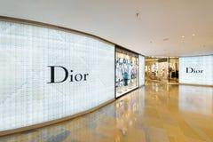 Deposito di Dior nel centro commerciale pacifico del posto, Hong Kong Fotografie Stock