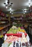 Deposito di frutti Fotografia Stock