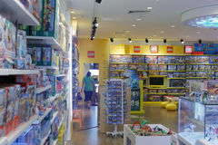 Deposito di giocattolo dei bambini Fotografie Stock