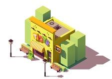 Deposito di giocattolo isometrico di vettore royalty illustrazione gratis