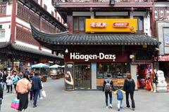Deposito di Haagen-Dazs a Shanghai, Cina fotografie stock
