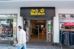 Deposito di Jack Wolfskin immagini stock libere da diritti
