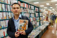 Deposito di libro di fumetti Fotografia Stock Libera da Diritti