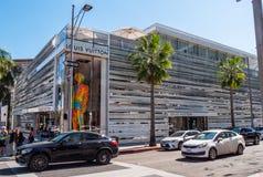 Deposito di Louis Vuitton a Rodeo Drive in Beverly Hills - CALIFORNIA, U.S.A. - 18 MARZO 2019 fotografia stock