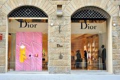 Deposito di modo di Dior a Firenze, Italia Immagine Stock