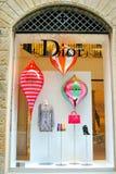 Deposito di modo di Dior a Firenze, Italia Fotografie Stock