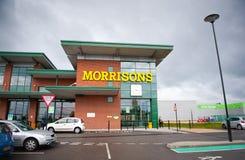 Deposito di Morrisons in Openshow, Manchester, Regno Unito Immagine Stock