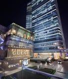 Deposito di nave ammiraglia di Gucci alla notte, Shanghai, Cina Immagine Stock Libera da Diritti