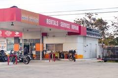 Deposito di riparazione di servizio degli affitti dei cicli di chiavi Immagine Stock