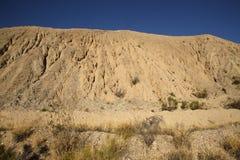 Deposito di scoria dagli impianti della miniera di rame Fotografie Stock