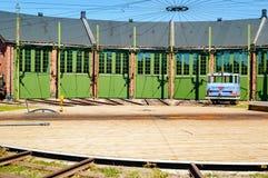 Deposito di servizio dei treni Fotografie Stock