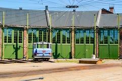Deposito di servizio dei treni Fotografia Stock Libera da Diritti